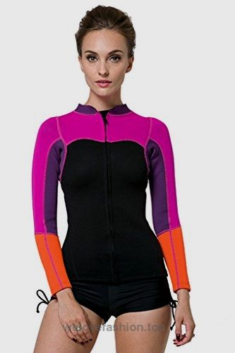 b32c988bb4 SBART Women s 2mm Neoprene Wetsuits Jacket Long Sleeve Wetsuit Top – Tag  XLarge   US Medium BUY NOW  28.99 SBART wetsuits tops are made from super  stretch ...