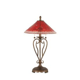 Divina 27-In 3-Way Bronze Indoor Table Lamp With Crystal Shade Lwtk007