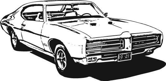 sideview muscle car stock clipart black and white amigalib com rh pinterest com Classic Car Show muscle car clipart images