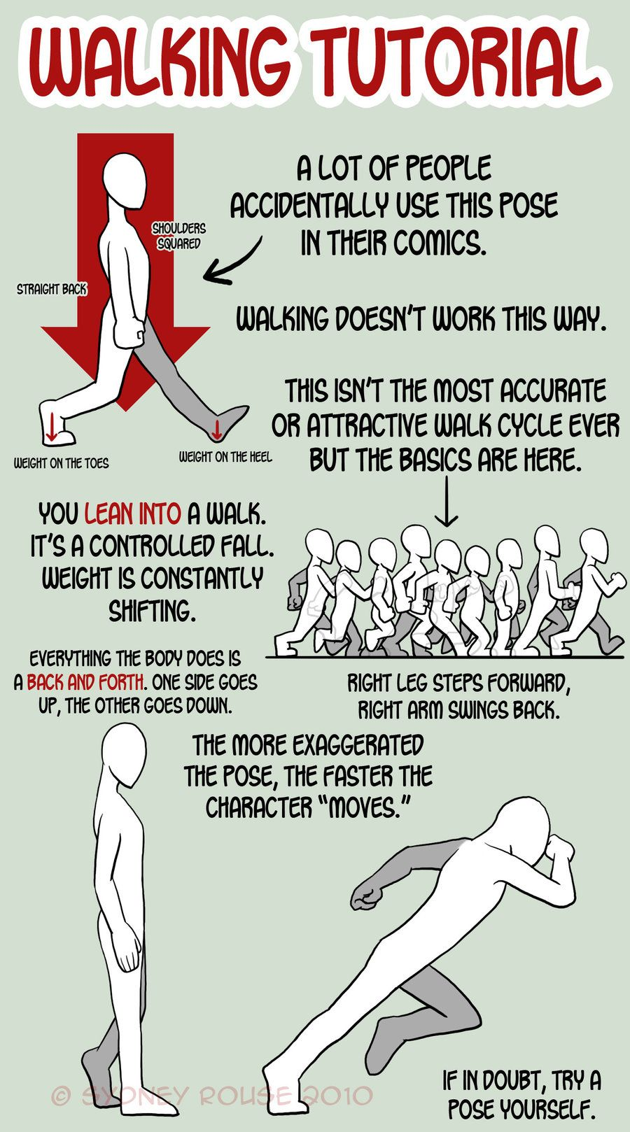 anatoref: Walking Animation Tutorial Top Image | Tutoriales, Dibujo ...