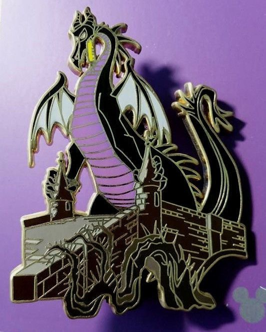 Details About Maleficent Dragon Tapestry Disney Shopping Pin