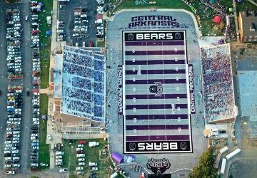 Estes Stadium University Of Central Arkansas Stadium University Of Arkansas Football Field