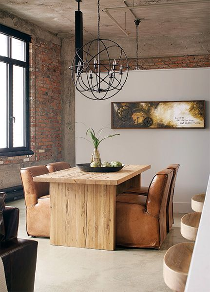 Un loft au décor industriel Tables, Dining and Room - table salle a manger loft