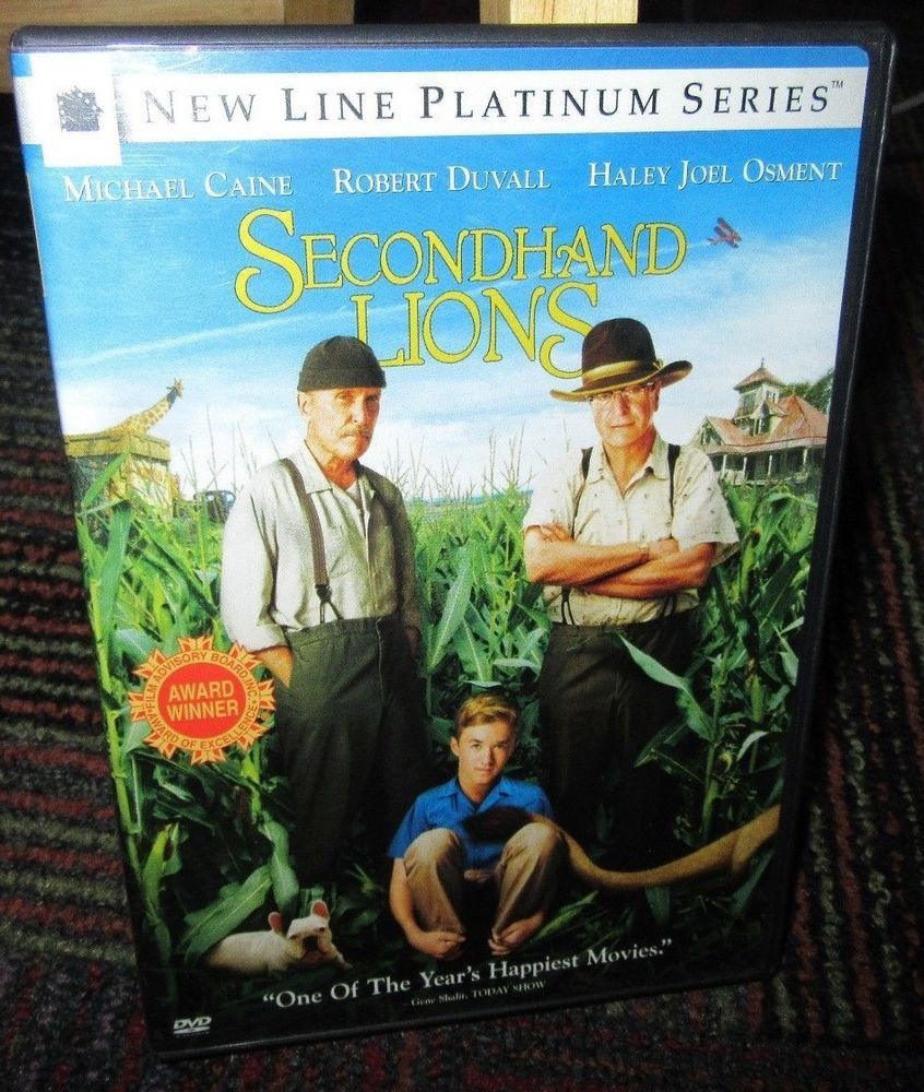 Secondhand lions dvd movie, michael caine, robert duvall