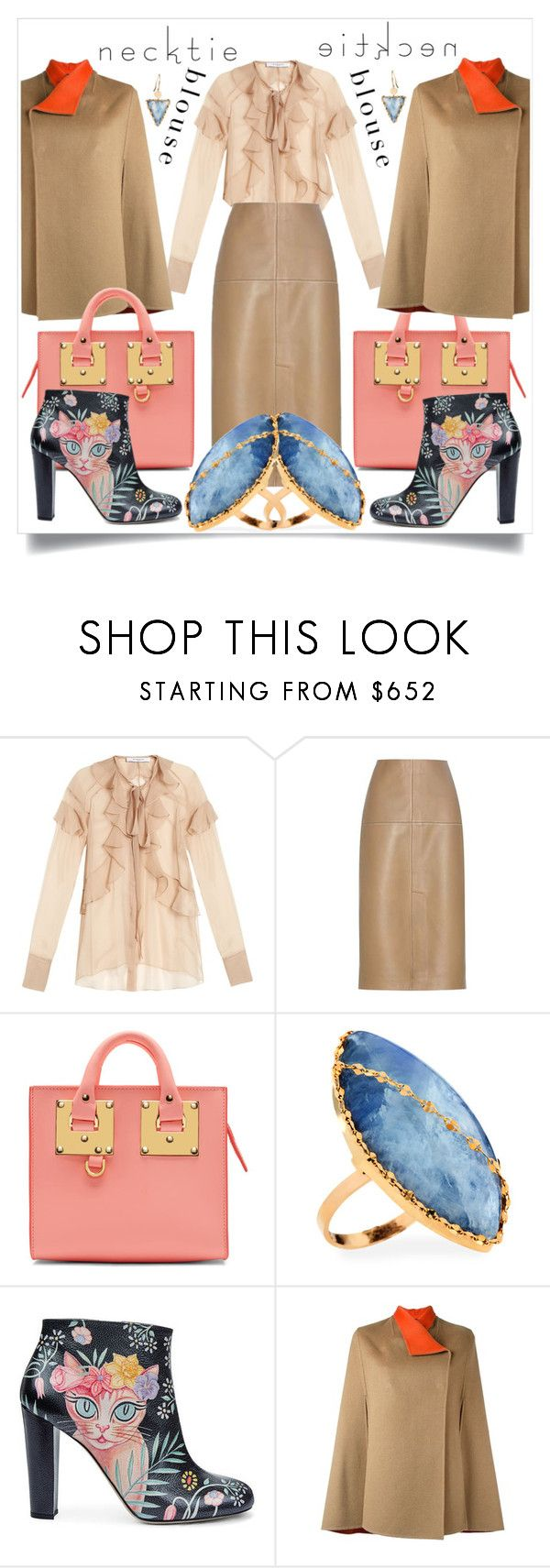 """Boring Beige"" by capricat ❤ liked on Polyvore featuring Givenchy, By Malene Birger, Sophie Hulme, Lana, Camilla Elphick and Joseph"