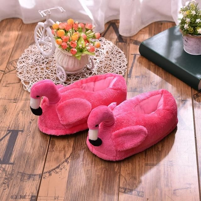 Photo of Women Fluffy Slippers Warm Plush Cartoon Shoes Girls Ladies Flats Slipper Winter Home Soft Comfortable Rabbit Female Footwear – Rose red 10.5