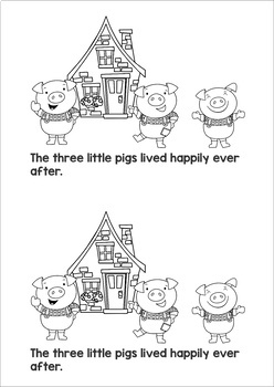 The Three Little Pigs Emergent Reader by Lavinia Pop