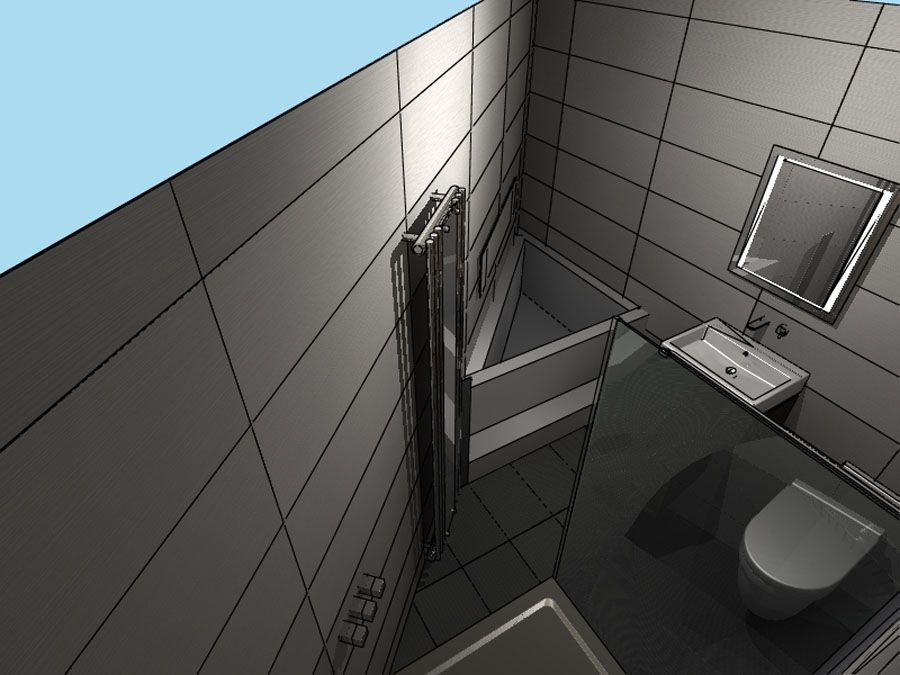 Delightful Initial Plans For And Awkwardly Shaped Triangular Ensiute Shower Room  Designed By Room H2O