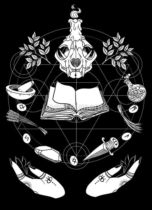 Póster 'Wicca' de menteymenta