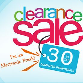 30% off, Computer Peripherals Clearance Sale