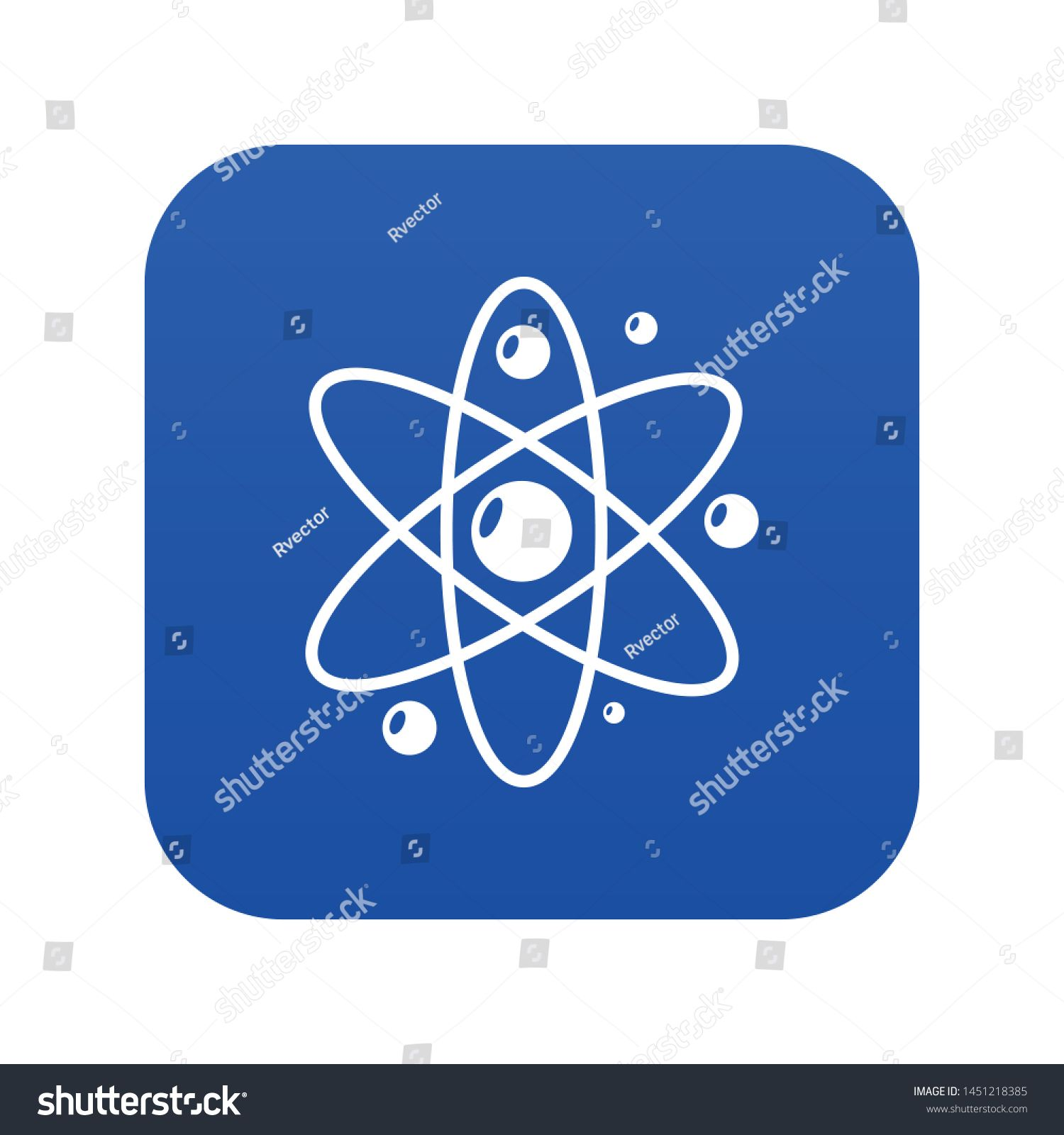 Atom icon Simple illustration of atom vector icon for web