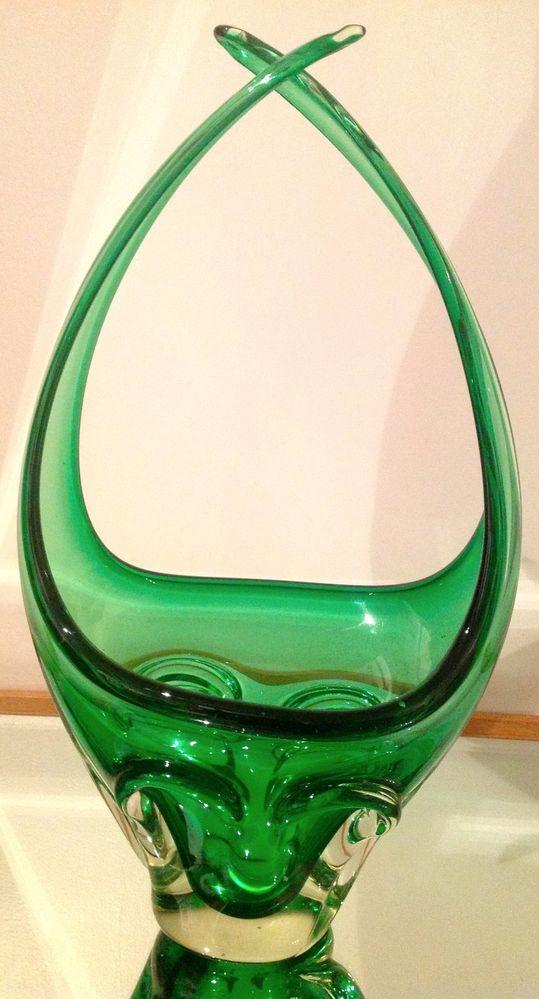 Emerald Art Glass details about brilliant emerald green chalet lorraine art glass