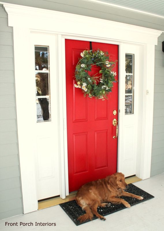 What Color Should I Paint My Front Door? | Red paint, Front doors ...