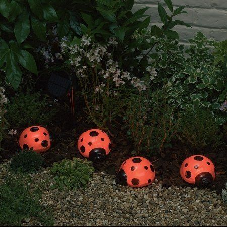 Smart Solar/Smart Solar 3656MRM4 Ladybug Solar Light Set. 4 pack. Red by STI Group. $29.54. Powered by a separate solar panel allowing lights to be placed in shady areas. Ideal for decorating shrubs, flowerbeds and outdoor areas. Up to eight hours illumination when fully charged.. No operating costs. No main wiring, simply install and enjoy. Automatically illuminates during darkness. Smart Solar/STI 3656MRM4 Ladybug solar light set. 4 pack. Save 26%!