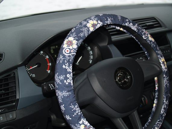 Classic flower steering wheel cover Car accessories for woman | Etsy
