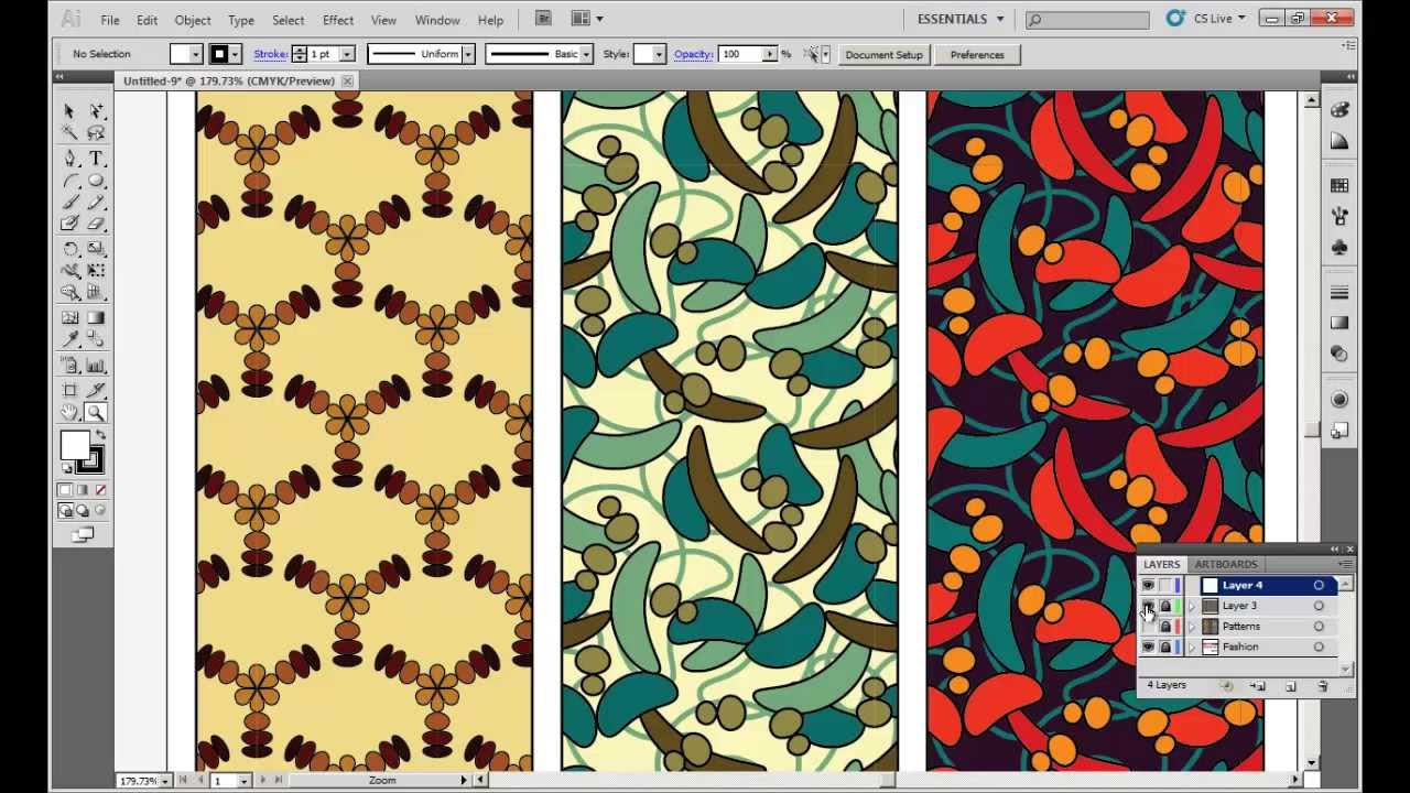 How To Create Half Drop And Random Patterns In Multiple Color Ways
