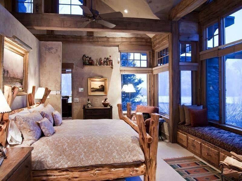 schlafzimmer im #rustikale #einrichtungsstil (via atemberaubende ... - Einrichtungsstile Ideen