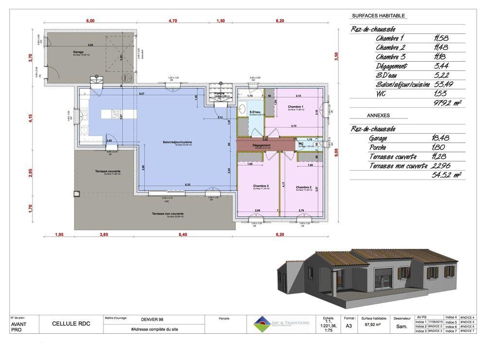 Maison moderne Bouches du Rhône, Drome, Gard, Vaucluse - logiciel pour faire plan de maison