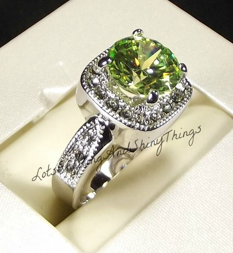 Stunning sim Peridot Ring RP sizes 5-6-7-8-9-10. Starting at $5 on Tophatter.com!