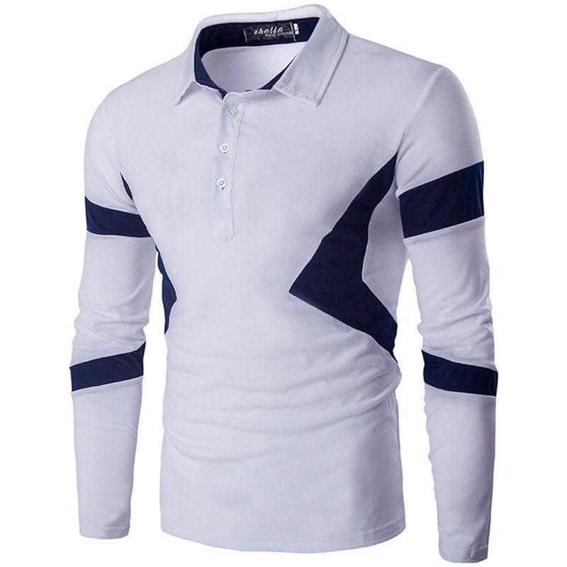 18af6e3201 Camisa Polo Manga Longa Andrew