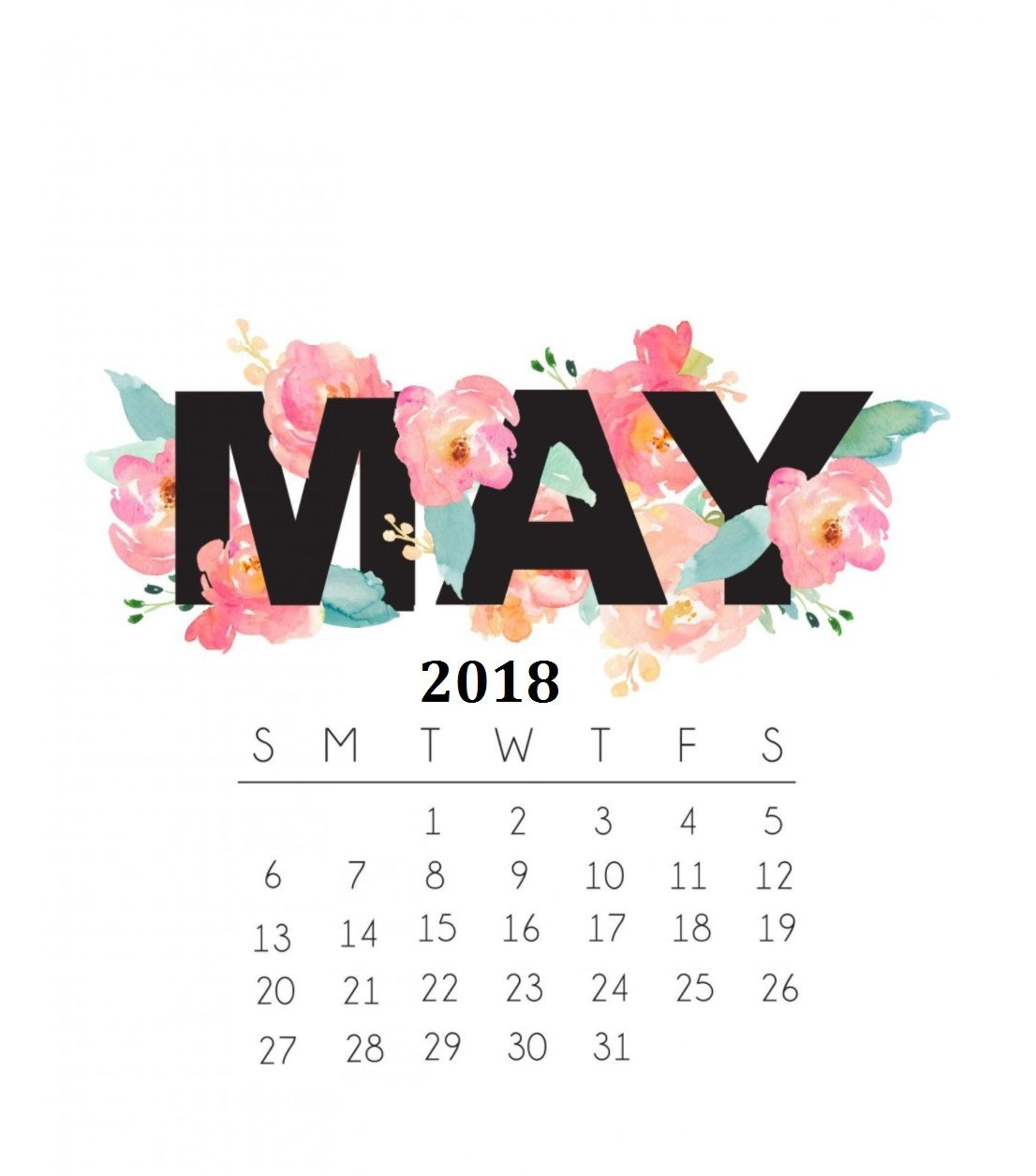 May 2018 Calendar Wallpaper Hd Calendar 2018 Pinterest