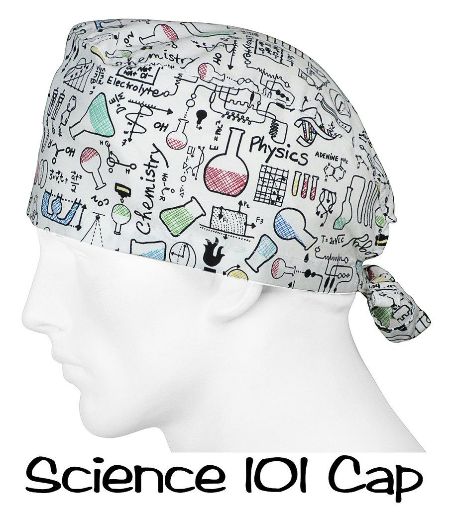 Scrub Caps Science 101 - Large / White | scrub caps | Pinterest ...