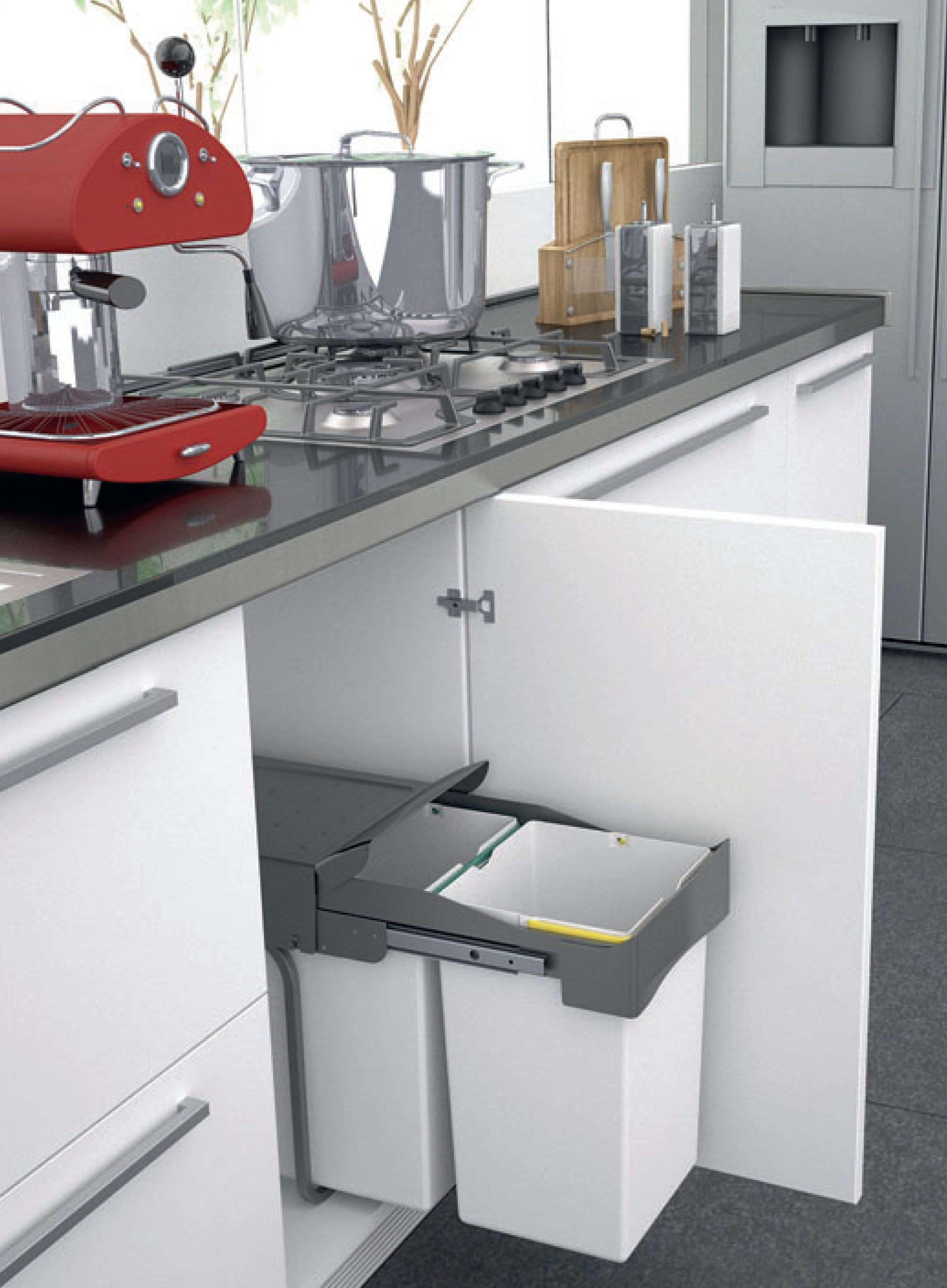 I520 Series Undersink Waste Bin SoftClose Pull Out System