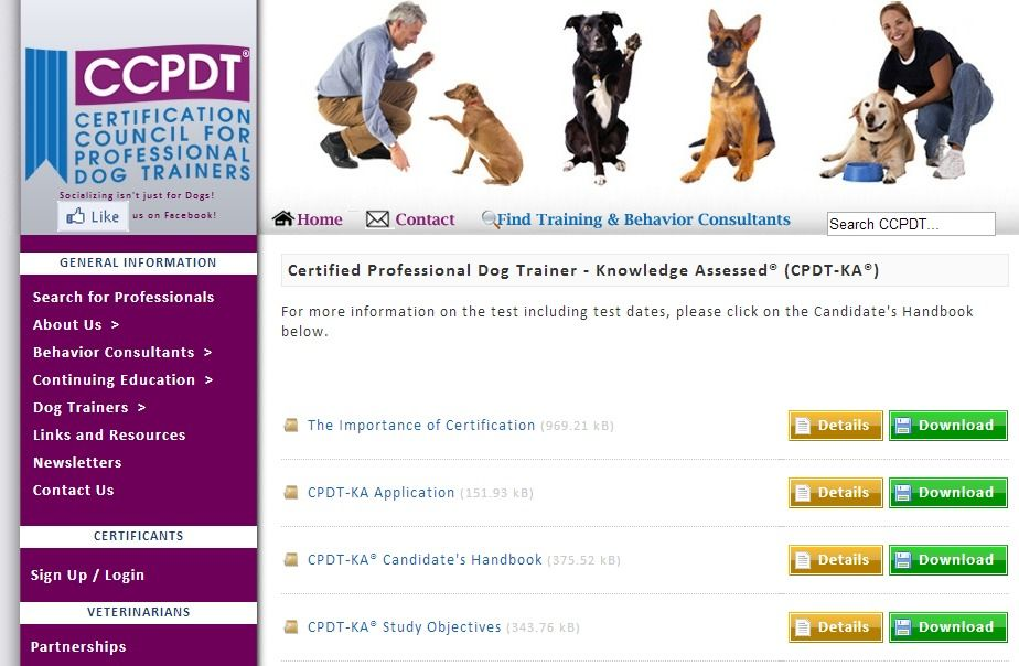 Ccpdt Certification Council For Professional Dog Trainers Cpdt
