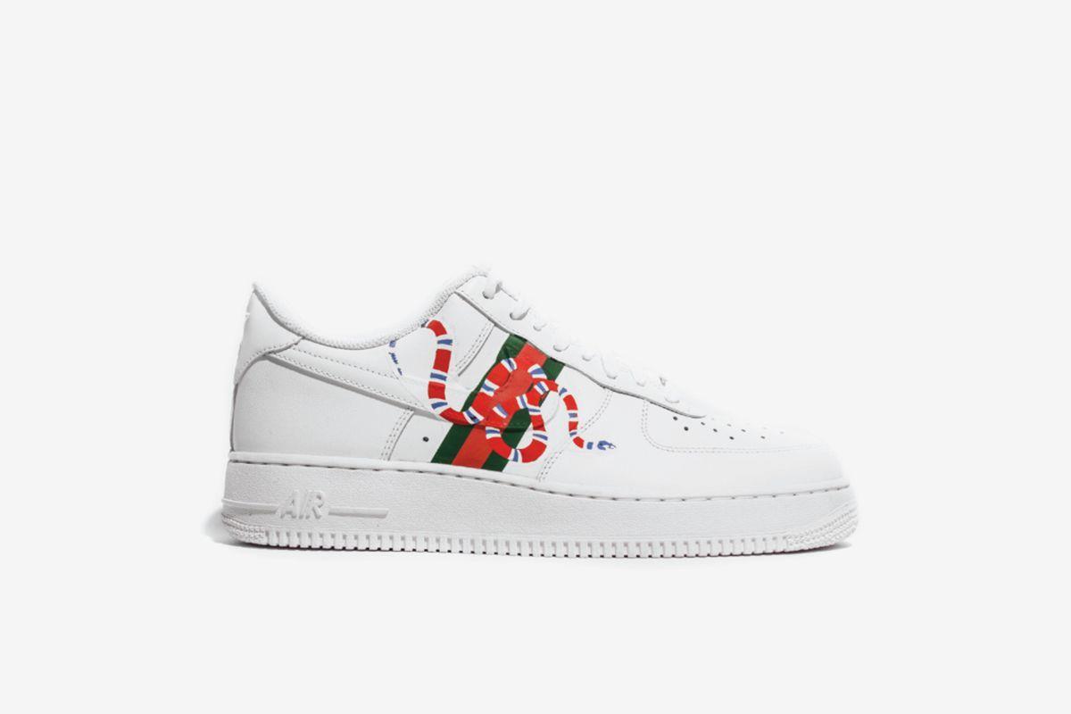 3582a18d4b Nike,Amac Customs Gucci Snakes AF1 Low | shoe ideas | Nike af1 ...