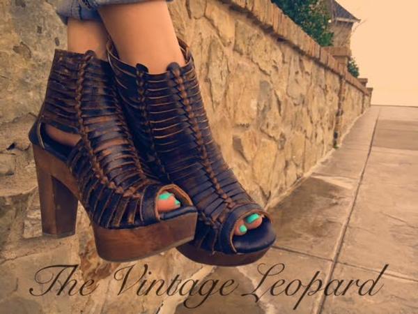 9550882bfd76 Sbicca Yani Brown Leather Huarache Heel