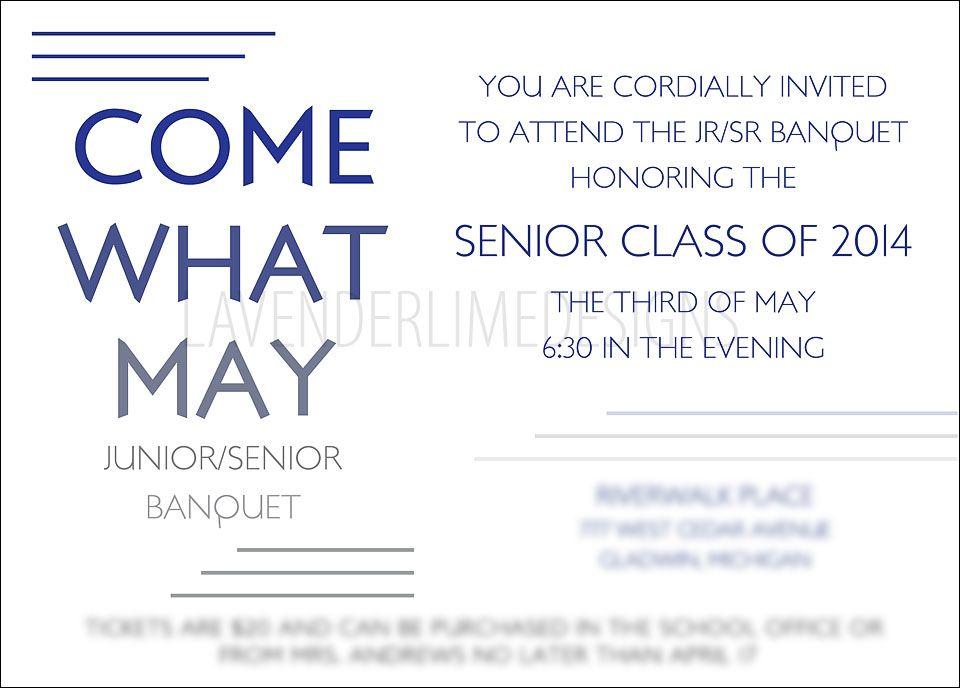 Junior Senior Banquet Invitation Very sleek and modern - fresh formal invitation to judges