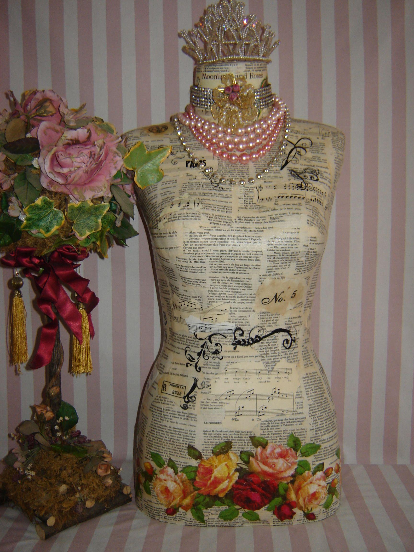 mannequin that i 39 ve made miss rose mannequins dress forms pinterest dress form rose. Black Bedroom Furniture Sets. Home Design Ideas