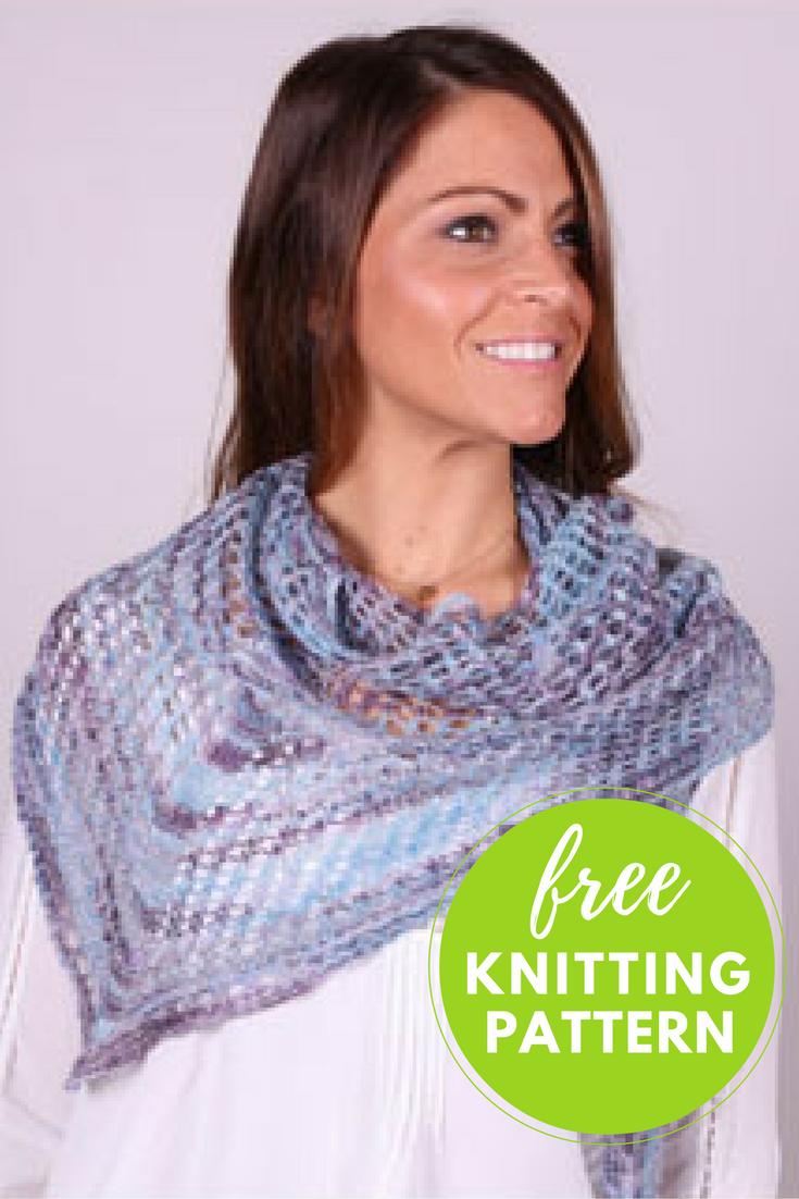 Mesh Lace Shawl Free Knitting Pattern | Shawl, Knitting patterns and ...