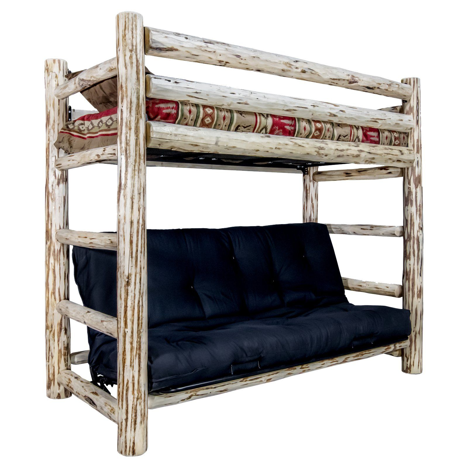 Montana Woodworks Montana Twin Over Futon Bed from