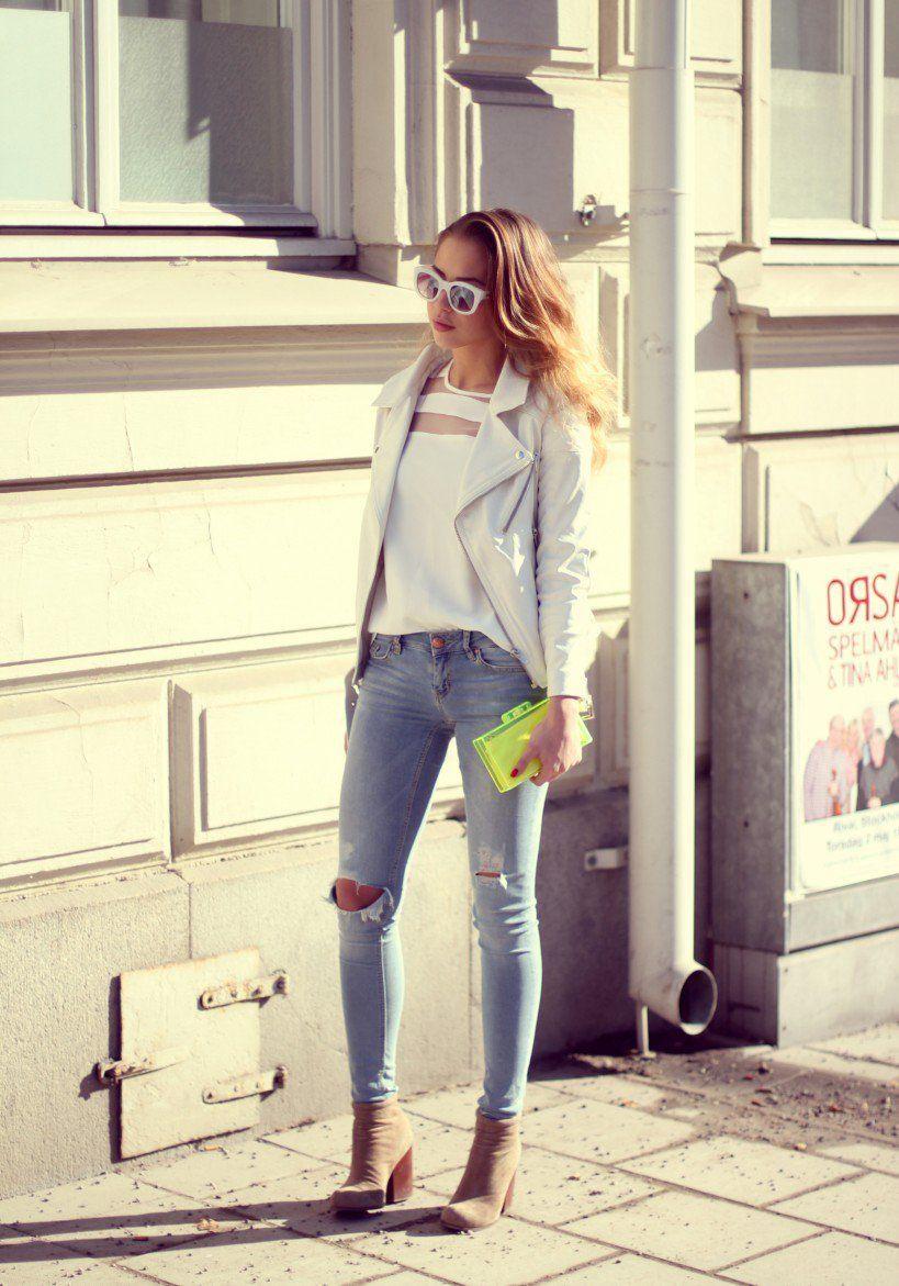 Bildresultat för slitna jeans dam outfit  26590237dca5b