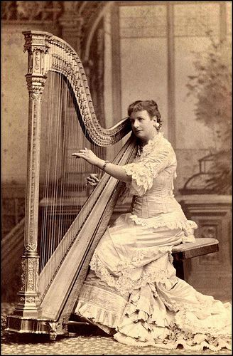 Image result for victorians playing the harp
