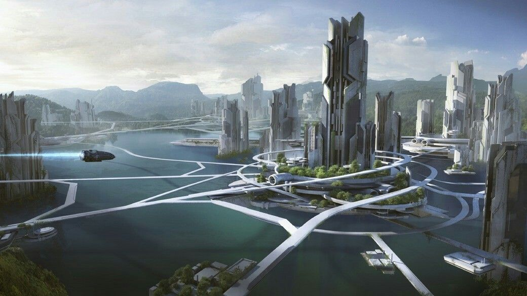 A Future I Hope To See But Maybe Not Enough Time Sci Fi Concept Art Fantasy Landscape Futuristic City