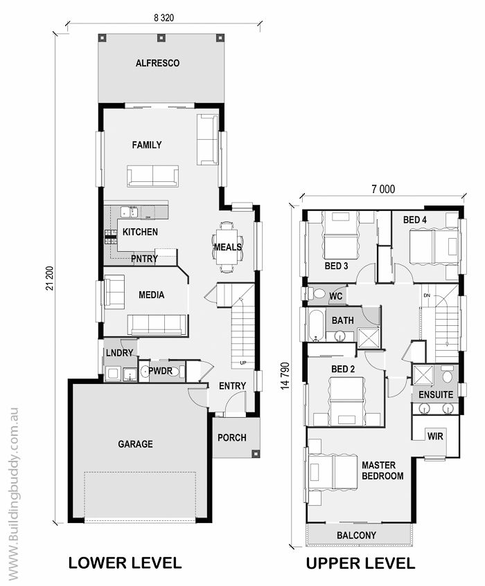 Wattle Small Lot House Plans Planos Para Construir Casas Casas De Dos Pisos Planos De Casas