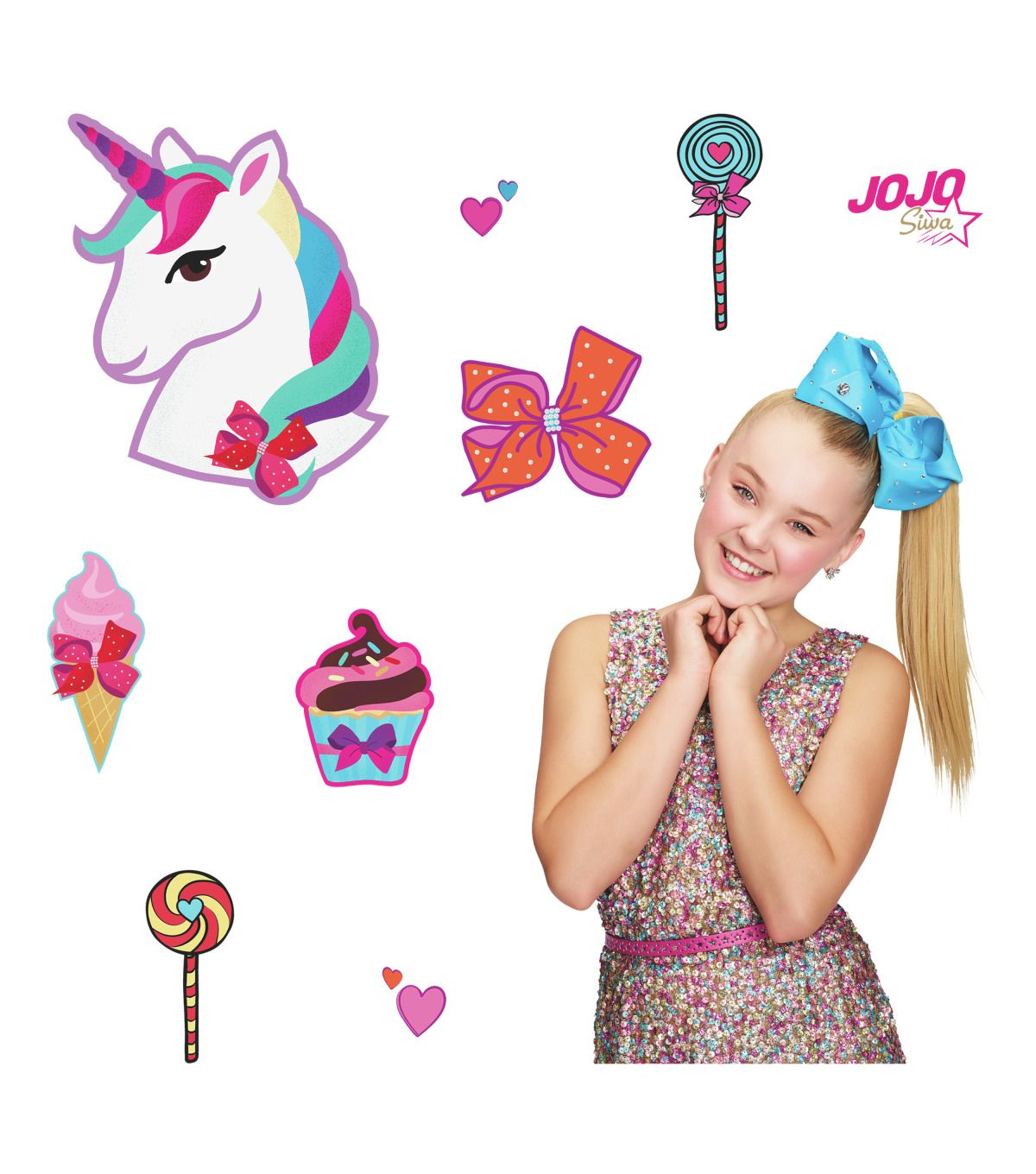 York Wallcoverings Wall Decals Jojo Siwa Unicorn Dream in