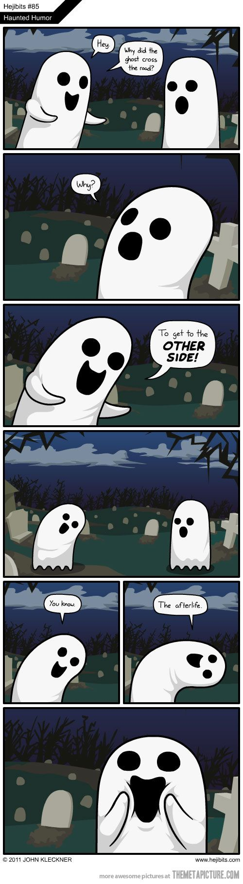 Why Did The Ghost Cross The Road Funny Puns Funny Pictures Funny