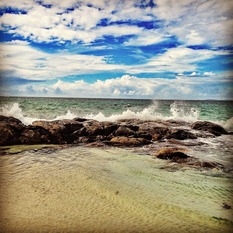 beach waves Ireland Galway Beach, Natural landmarks