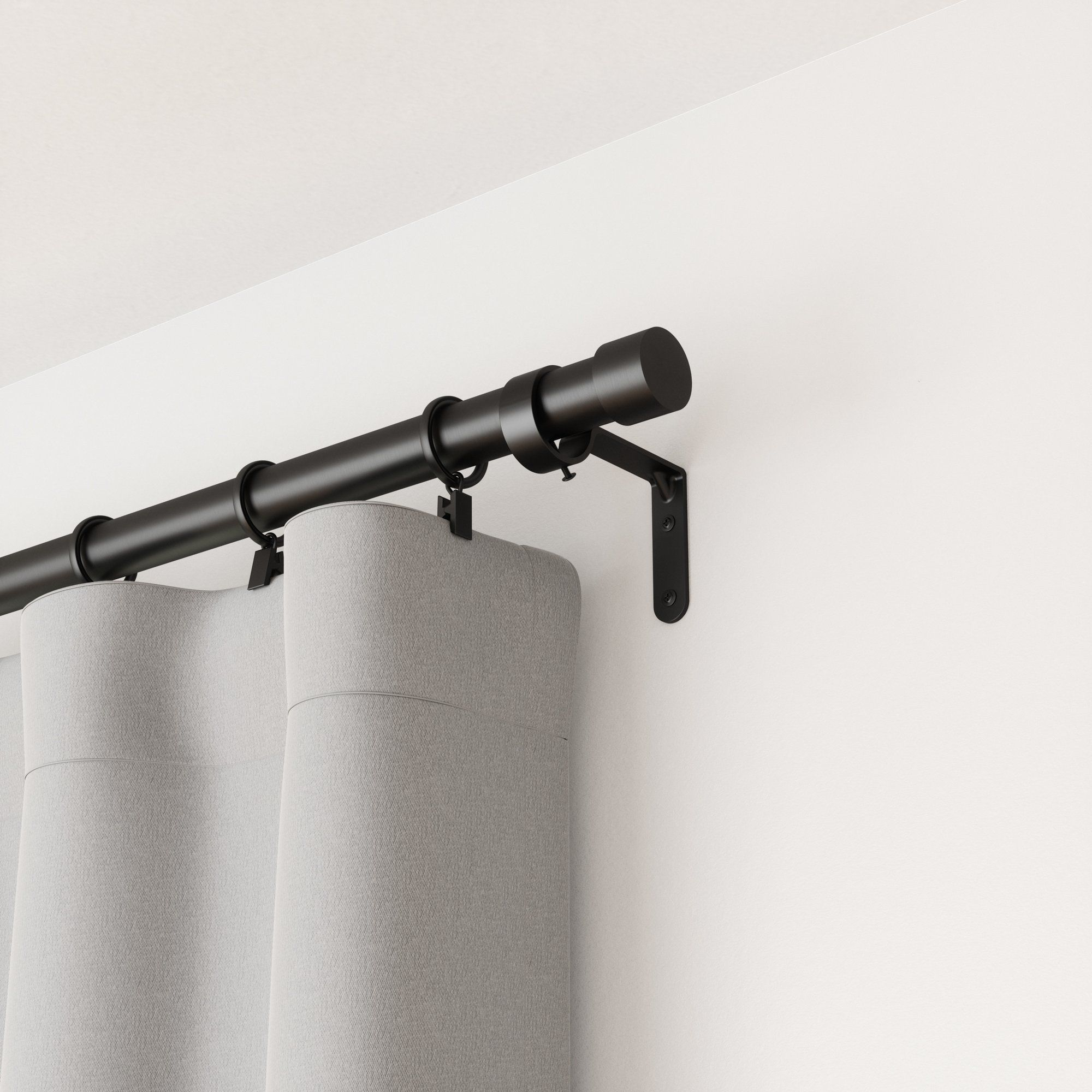 Cappa Curtain Rod In 2020 Curtain Rods Black Curtain Rods Double Rod Curtains