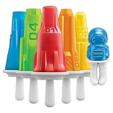 The Zoku Space Pop Ice Maker Molds will help create delicious ice pops for the kids to enjoy. Use your own ingredients, such as fruit juice, yogurt, or add-ins. Wait until frozen, then simply slip out the ice pop from the mold and enjoy.