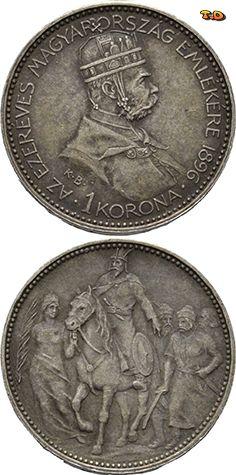 N♡T. Австро-Венгрия Габсбург 1 крона 1896 Франц Иосиф I