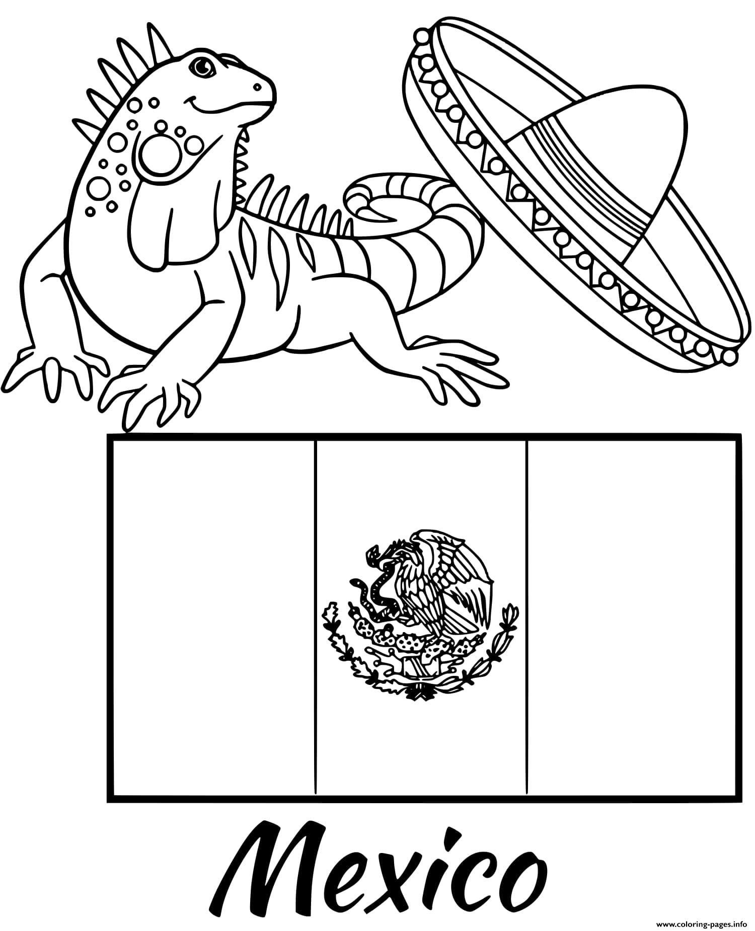 Spain Flag Coloring Page ~ Scenery Mountains