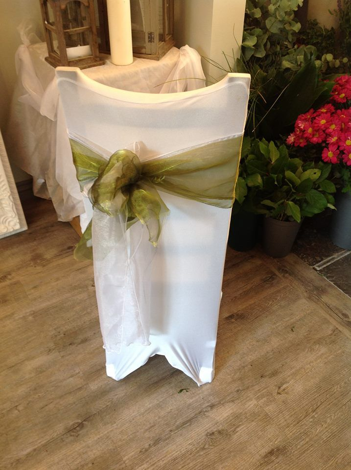 Chair covers available in different colours http://www.bloxhamsflorists.co.uk/