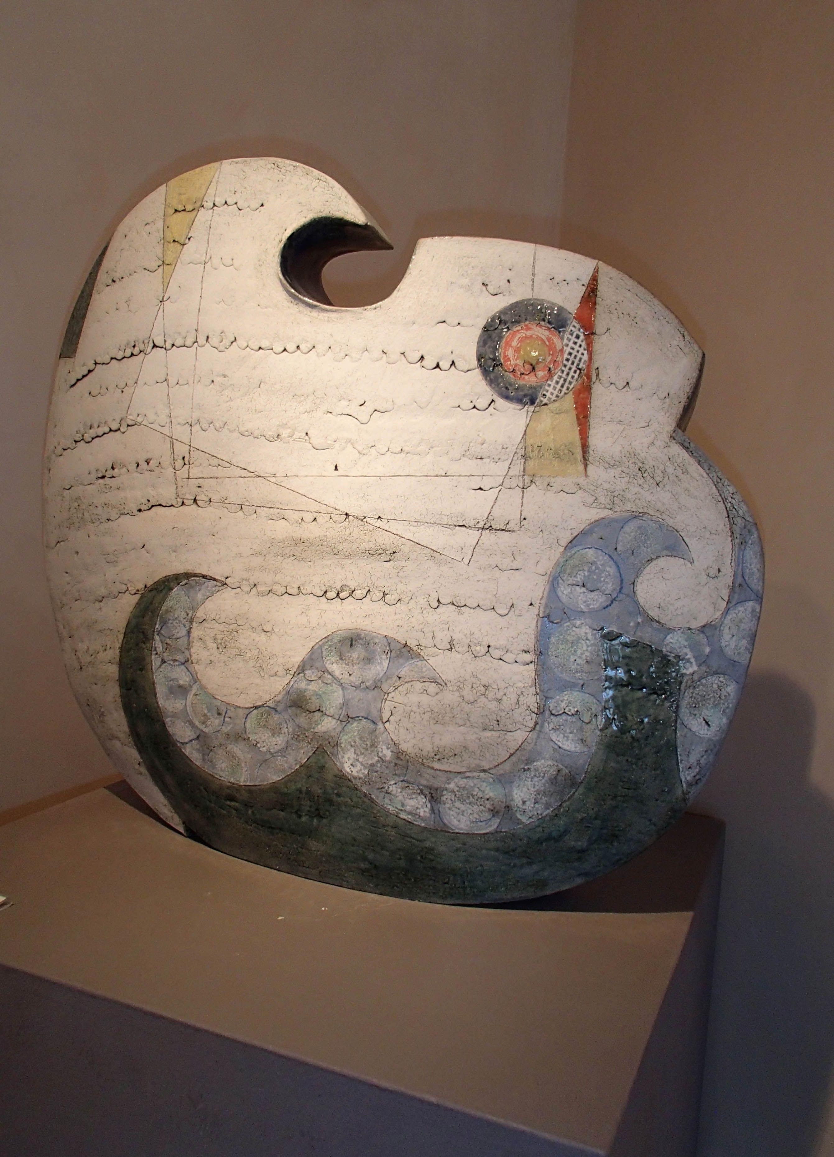 "Sheryl Zacharia ""HIROSHIGE WAVE"" front. Ceramic Sculpture"