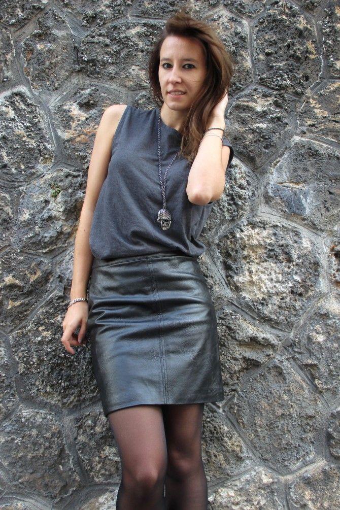 Le cas de la jupe en cuir   Jupe cuir, Jupe simili cuir et Jupe