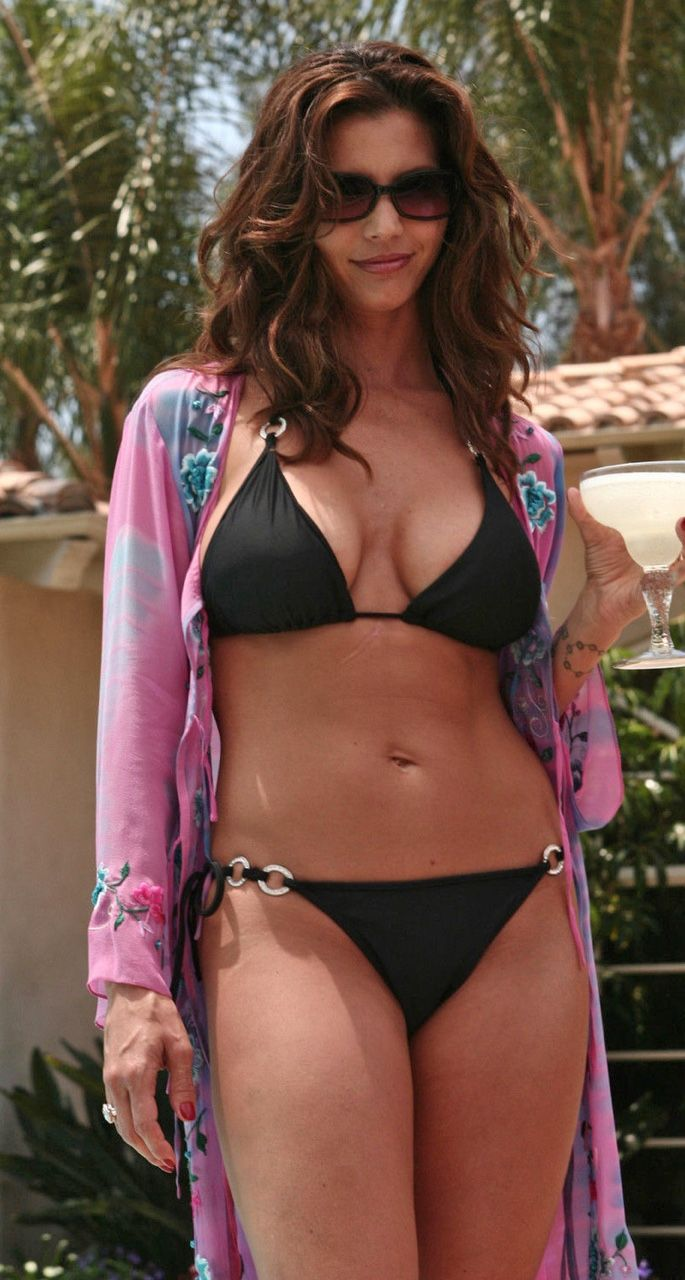 Charisma Carpenter Sexy In A Black Bikini Celebrities In