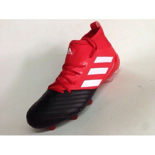 adidas ace 2017 adidas ace 17.1 primeknit fg leather black red
